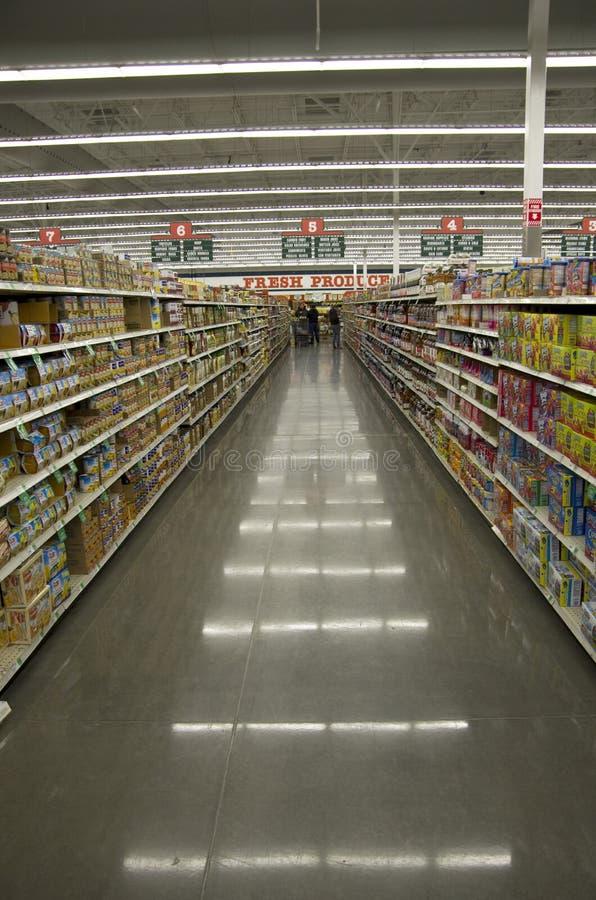 超级市场商店商店照明设备 免版税库存照片