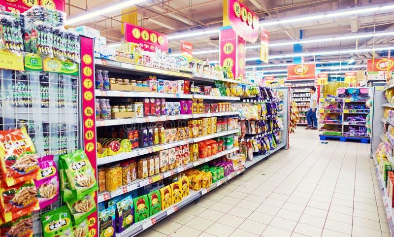 超级市场在中国 库存图片