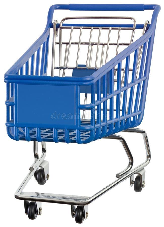 超级市场手推车保险开关 图库摄影