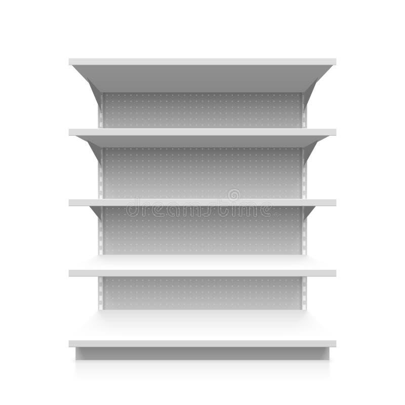 超级市场架子 库存例证