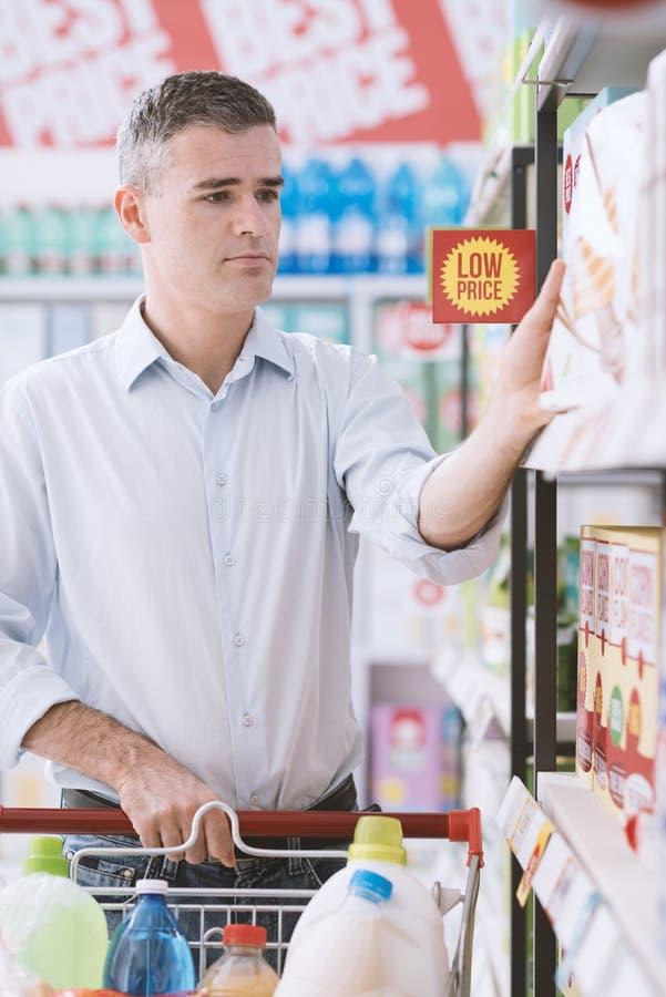 超级市场的人 免版税图库摄影