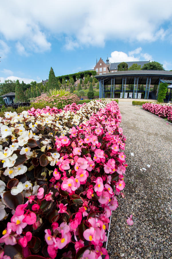 超级广角在修道院附近的公园 免版税图库摄影