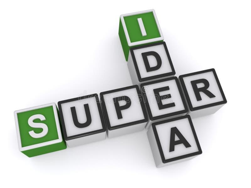 超级想法块 库存例证