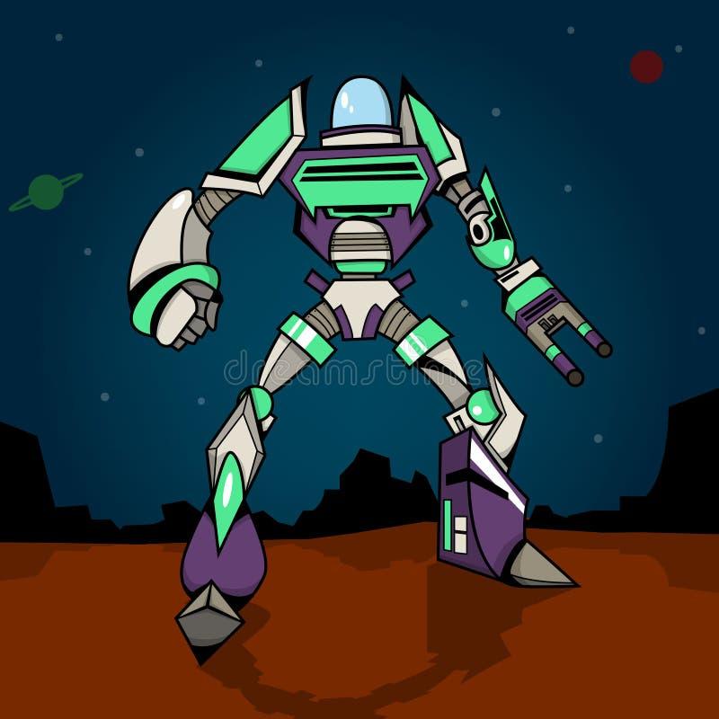 超级战争机器人 皇族释放例证