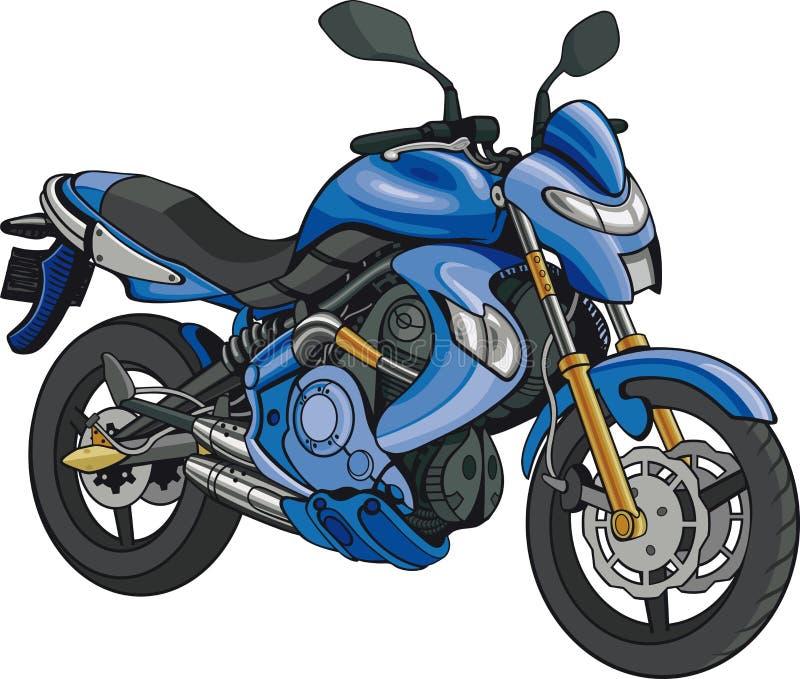 超级摩托车 皇族释放例证