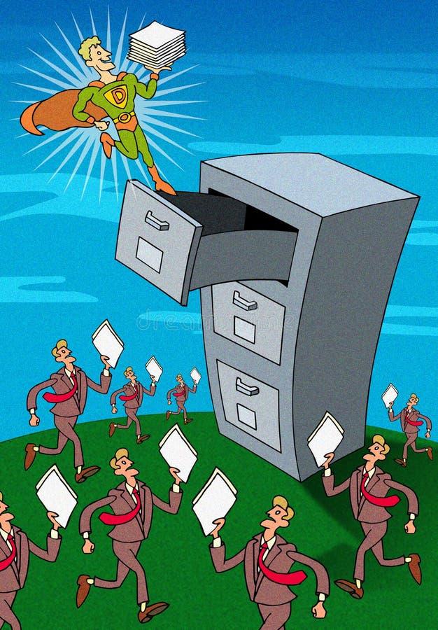 超级文件的老板 向量例证