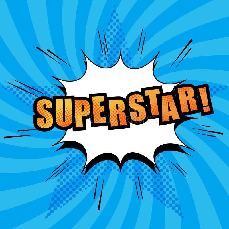 超级明星可笑的文本 免版税库存图片