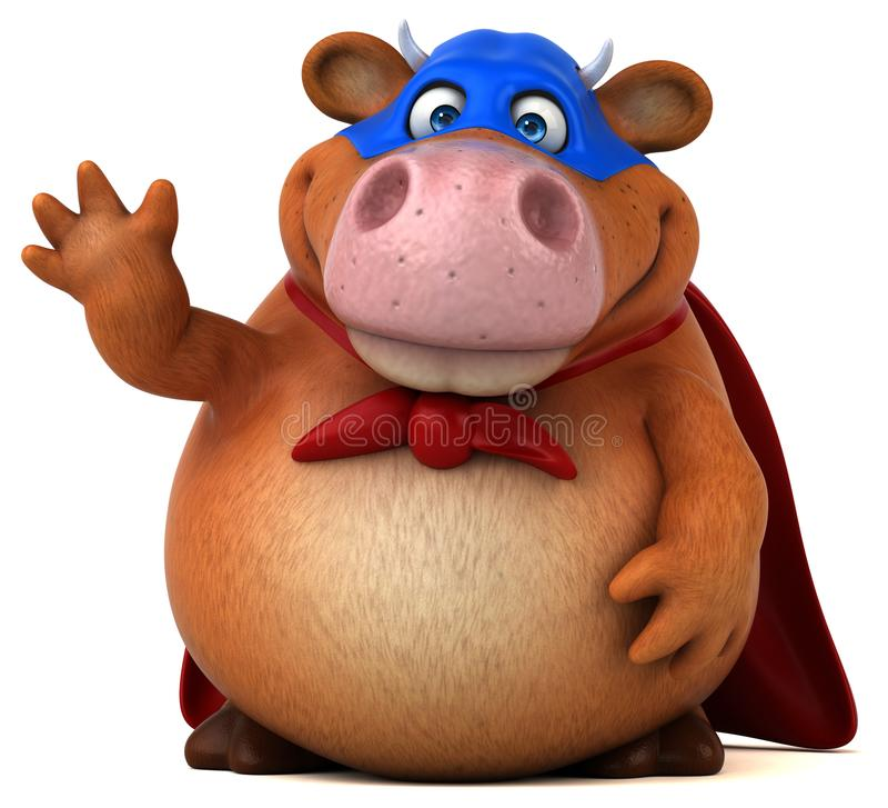 超级母牛- 3D例证 皇族释放例证