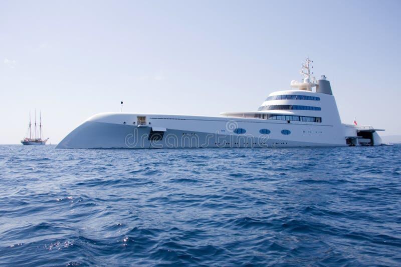超级游艇 库存图片