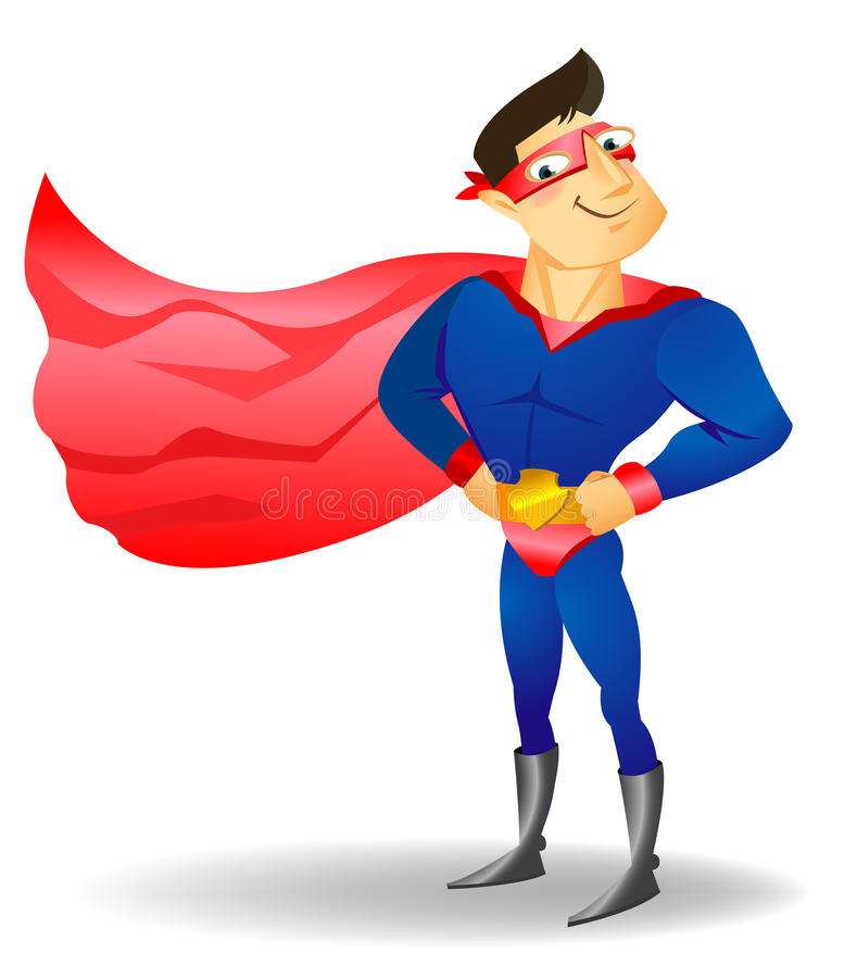 超级漫画人物逗人喜爱的英雄 库存照片