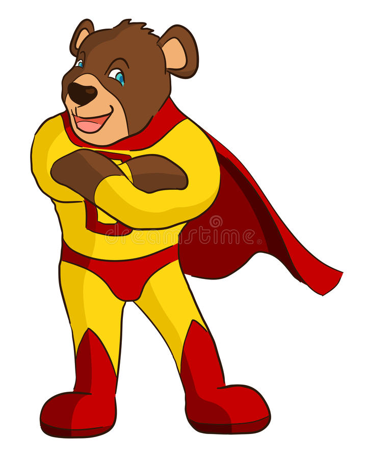 超级熊 库存例证