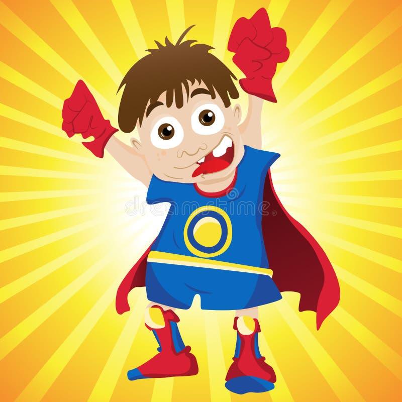 超级男孩的英雄 库存例证