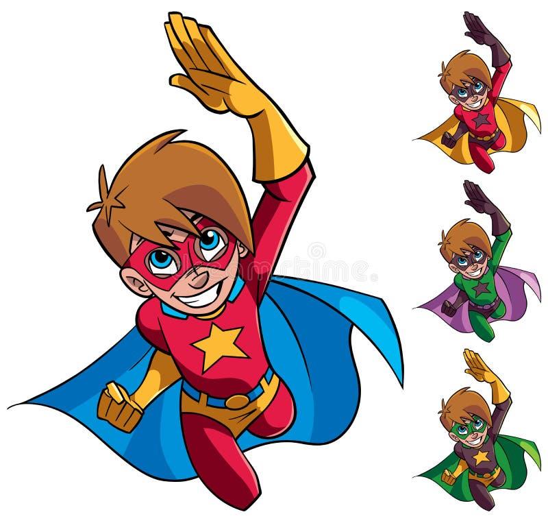 超级男孩飞行 皇族释放例证
