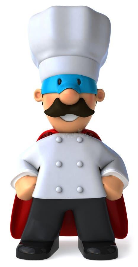 超级的主厨 库存例证
