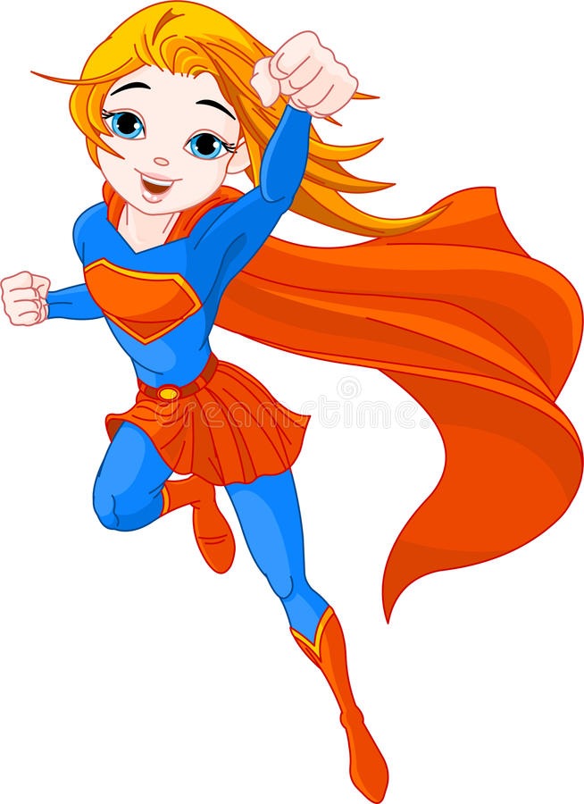 超级的女孩 皇族释放例证