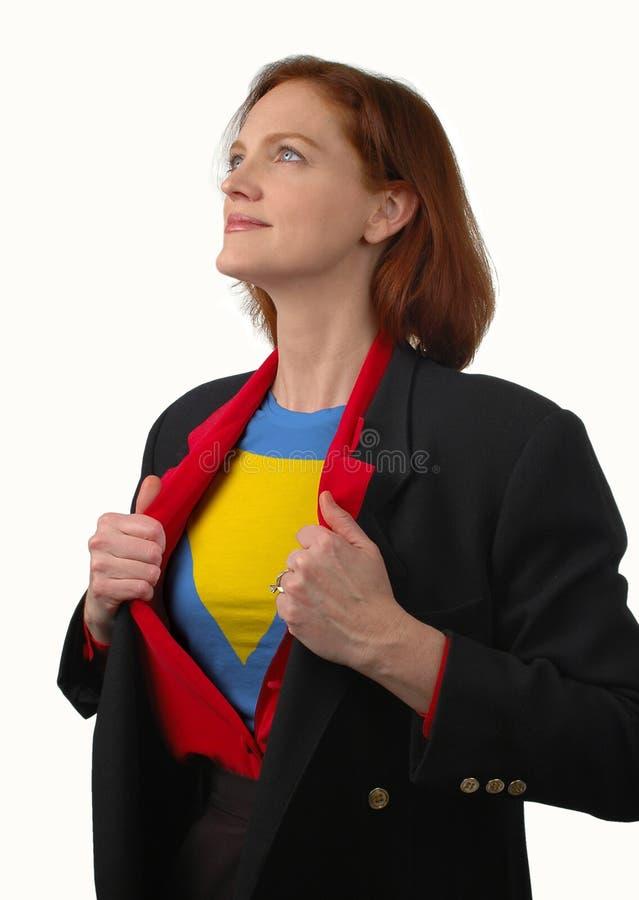 超级的女实业家 库存图片