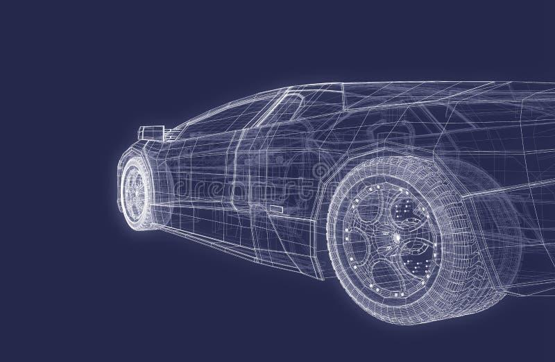 超级的汽车 向量例证