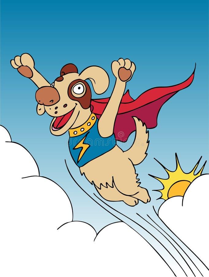 超级的狗 向量例证