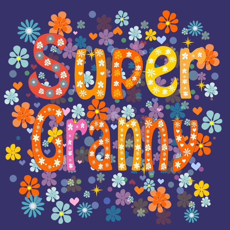 超级祖母 向量 向量例证