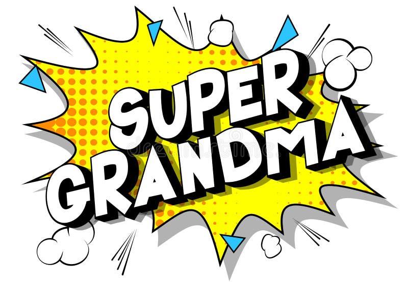 超级祖母-漫画样式词 皇族释放例证