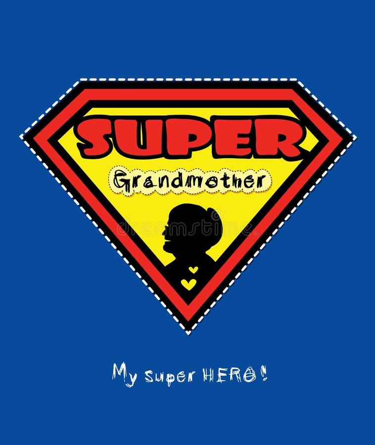 超级祖母 库存例证