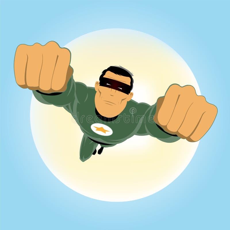 超级绿色的英雄 向量例证