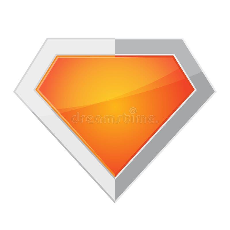 超级英雄商标 也corel凹道例证向量 皇族释放例证