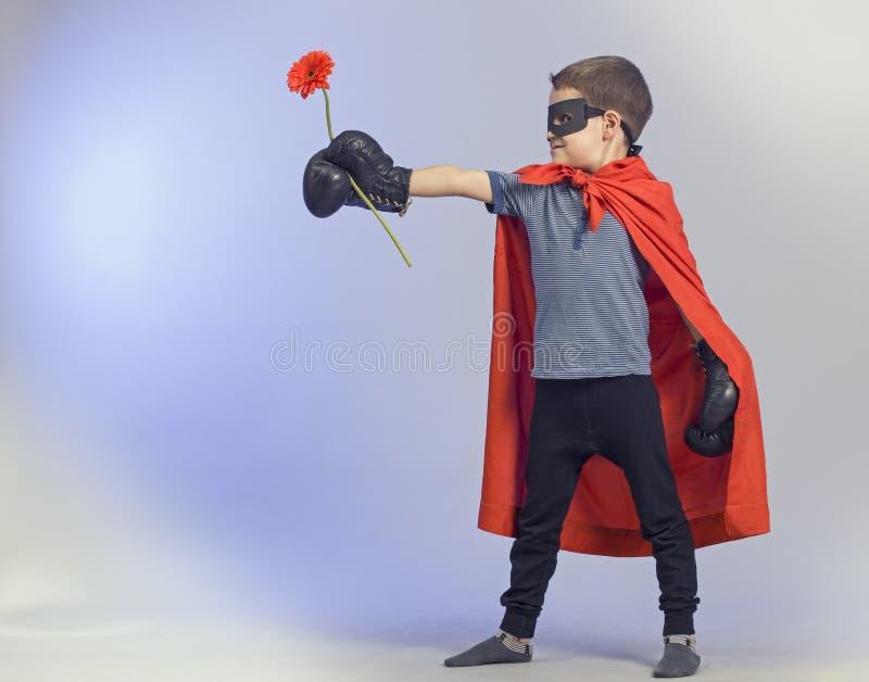 超级英雄孩子 库存照片