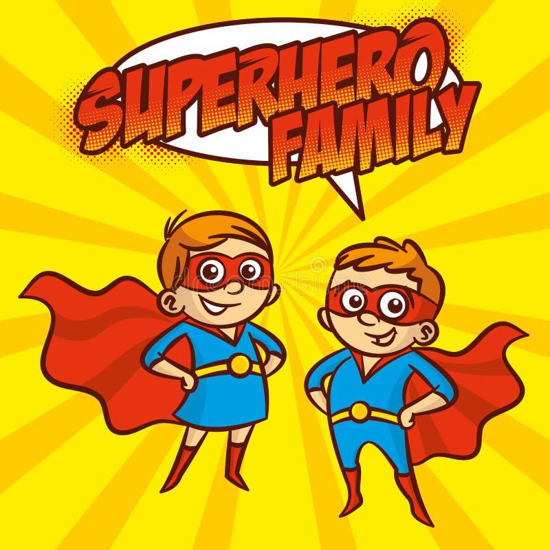 超级英雄家庭超级英雄漫画人物传染媒介例证 皇族释放例证