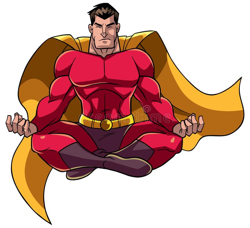 超级英雄思考的例证 库存例证