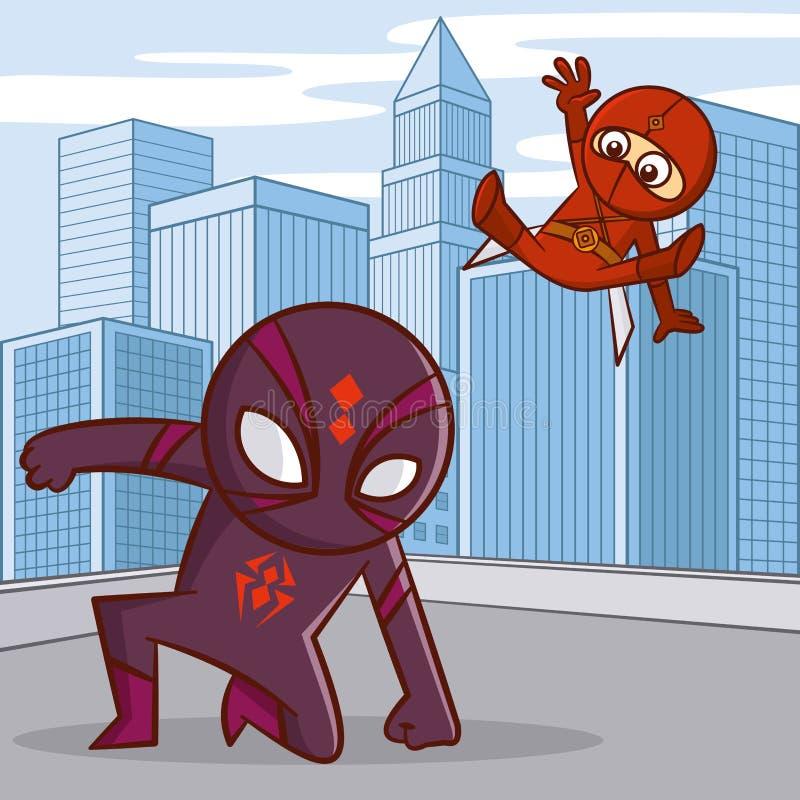 超级英雄漫画人物 皇族释放例证
