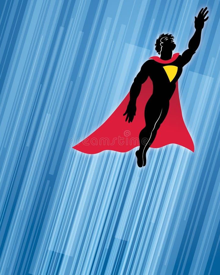 超级英雄背景 库存例证