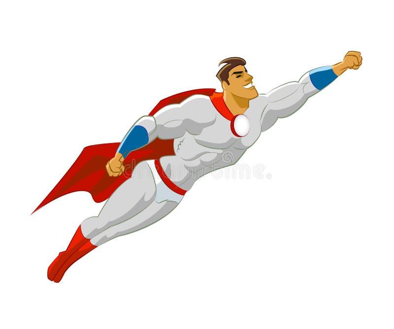 超级英雄飞行 向量例证
