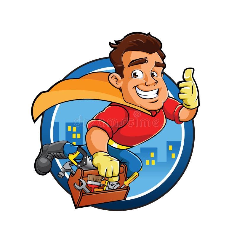 超级英雄建筑人 免版税库存图片