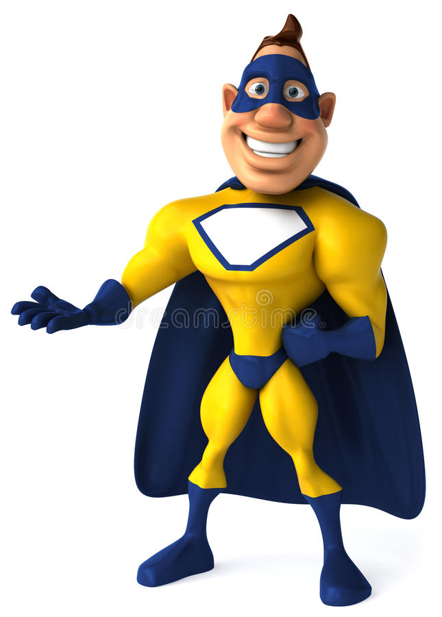 超级英雄 皇族释放例证