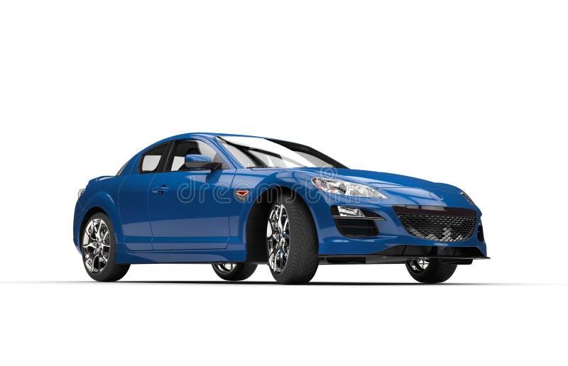 超级蓝色汽车 皇族释放例证