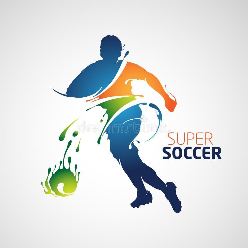 超级足球橄榄球飞溅样式 向量例证