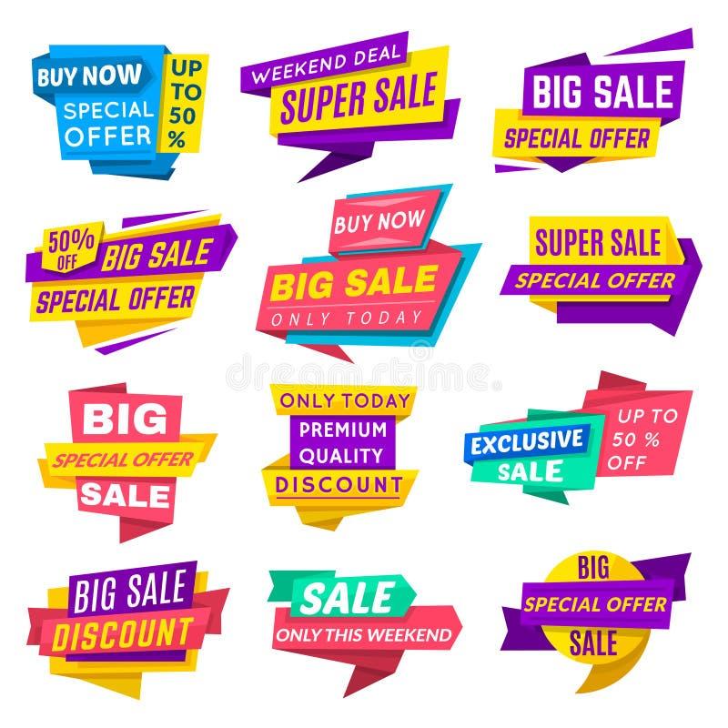 超级销售横幅 向量例证