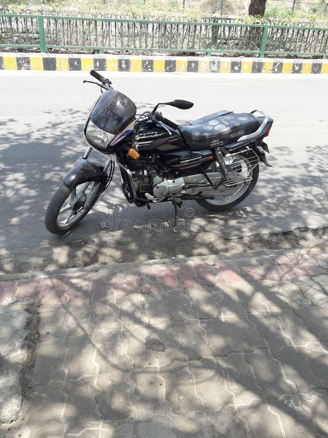 超级splender摩托车 免版税库存图片