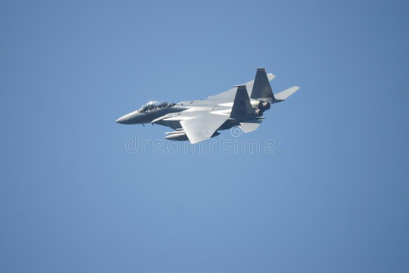 超音速军用喷气机战斗机 免版税图库摄影