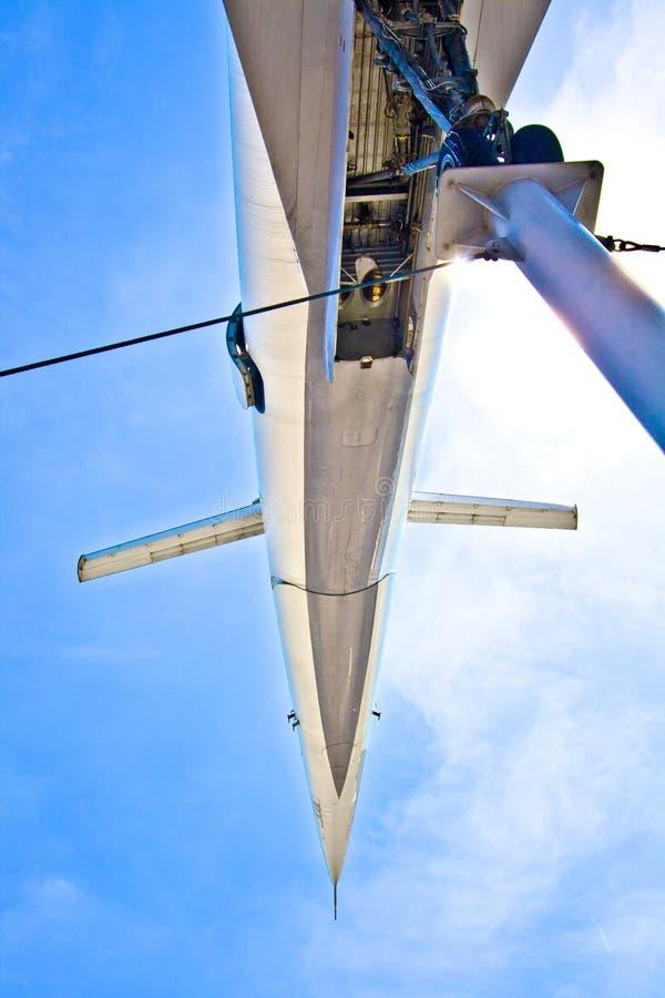 超音速航空器图波列夫 免版税库存照片