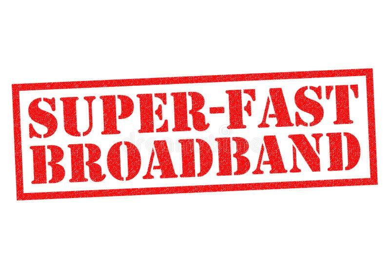 超高速的宽频 库存例证