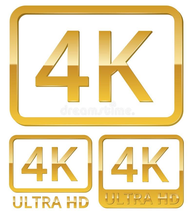 超HD 4K象 库存例证