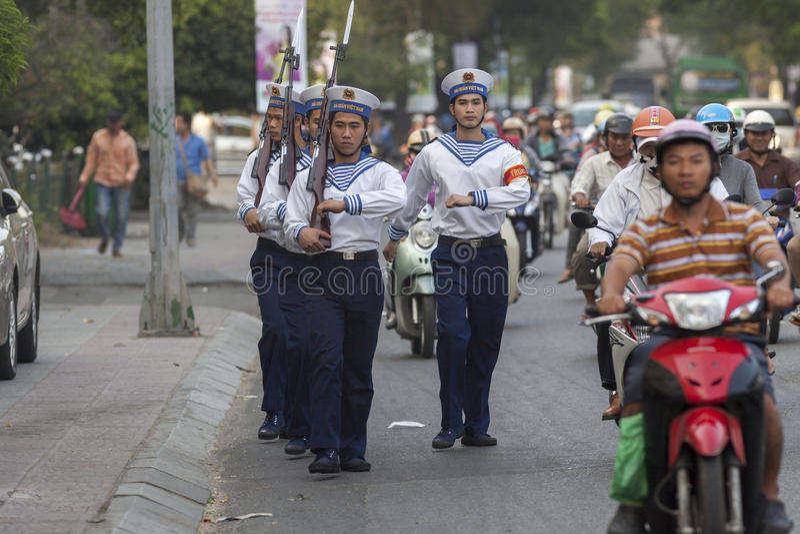 越南人海军 库存照片