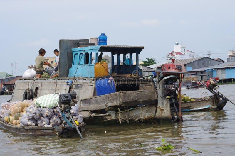 越南人湄公河三角洲 免版税库存照片