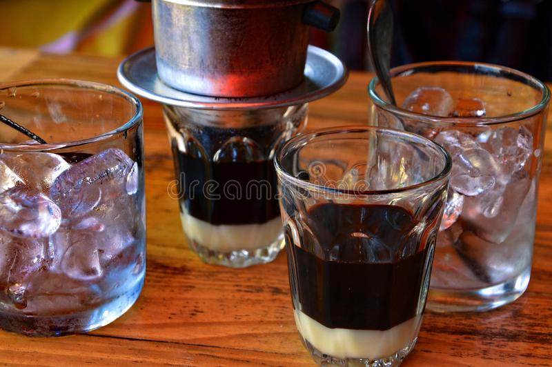 越南冰冻咖啡 免版税库存照片