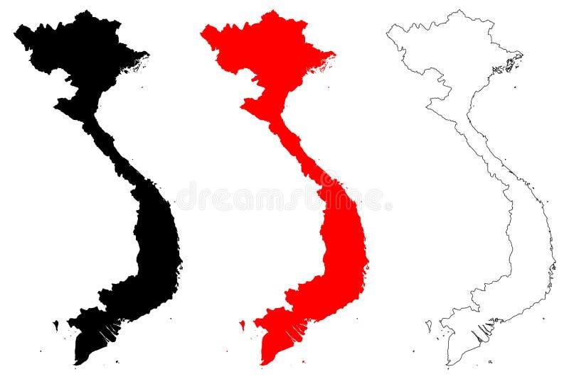 越南地图传染媒介 皇族释放例证