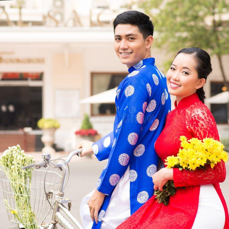 越南夫妇 免版税库存图片