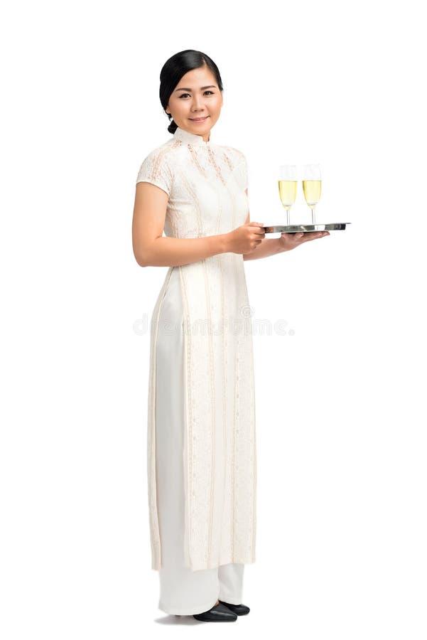 越南女服务员 免版税库存照片