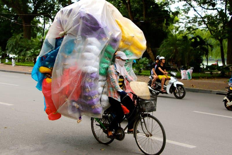 越南妇女摊贩河内 库存图片